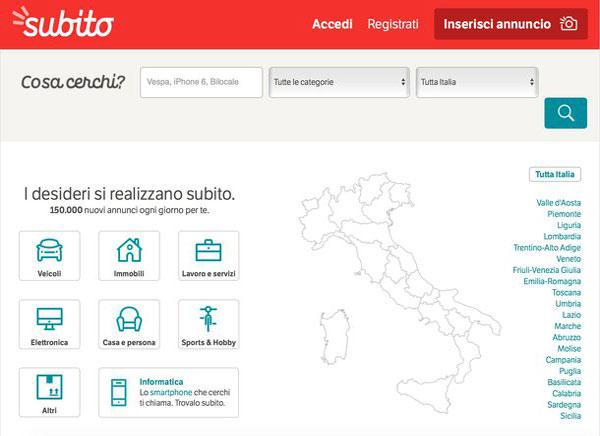 Siti web per trovare lavoro italia estero for Offerte lavoro subito